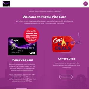 Purple Visa Card