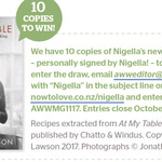 Win 1 of 10 copies of Nigella Lawson's At My Table from Australian Womens Weekly NZ