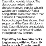 Win 1 of 2 Packs of 2 Caramilks from The Dominion Post