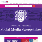 Win 1 of 5 Weekly Hawaiian Airlines Heritage Prize Packs Plus 90,000 HawaiianMiles from Hawaiian Airlines