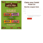 $2 off Cartel Food Burritos @The Coupon Company