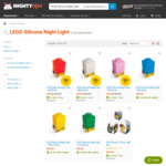 LEGO Silicone Night Light - Red/white/pink $18 @ MightyApe