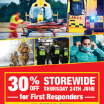 30% off @ Supercheap Auto for First Responders (in Store Only)