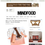 Win 1 of 2 Two Birds Beauty Kansa Wand + Serum Bundles (Worth $130) from Mindfood