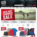 50% off All Backpacks, Tents & Sleeping Bags, 30% off Clothing + More @ Rebel Sport
