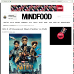 Win 1 of 10 copies of 'Black Panther' on DVD from Mindfood