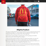 50,000 Free MacCoins (Exchangeable for a Free Big Mac) @ Various McDonald's Locations