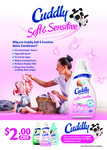Get $2 off Any Bottle of Cuddly Concentrate 900ml / 1L Fabric Conditioner at New World, Pak'nSave or Countdown [Coupon]
