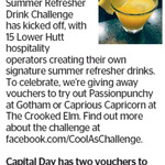 Win a Voucher for a Passionpunchy at Gotham or Caprious Capricorn at The Crooked Elm from The Dominion Post (Wellington)