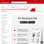 Download The Warehouse App and Pay Only $1 Delivery @ The Warehouse