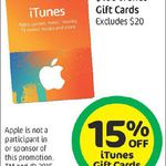 15% off iTunes Gift Cards @ Countdown