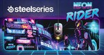 Win 1 of 3 Neon Rider Sensei Ten + Qck Prism XL Packs from SteelSeries