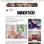 Win a 1 Year Membership to Be Good Cooking School (Worth $300) from Mindfood