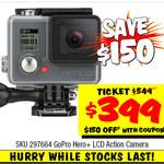 GoPro Hero+ LCD Action Camera - $399 Was $549 @ JB Hifi
