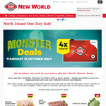 New World 'Monster Deals' - (NI) Chicken Breast $6.99/Kg, $0.99 Lettuces, $4 Blocks of Butter, $9.99 Chooks - SI Deals Also