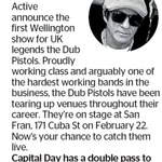 Win a Double Pass to Dub Pistols from The Dominion Post (Wellington)