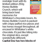 Win 1 of 2 Blocks of Whittaker's Honey Bubble Crunch from The Dominion Post
