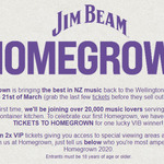Win 2 VIP Tickets to Homegrown from BurgerFuel