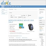 Microsoft Mobile Mouse 3500 Halo $8.94 + Shipping @ Doolz