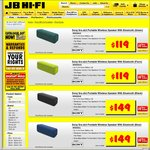 Sony SRS-XB3 Portable Wireless Speaker for $119 @JB-Hifi usually 299