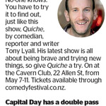 Win a Double Pass to Quiche from The Dominion Post (Wellington)
