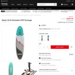 Alpha 10.8 Inflatable Stand Up Paddle Board Package $500 (was $900) @ Torpedo7