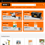 Jobmate Angle Grinder $49, 30 Sec Glass Cleaner $16, Fuller Toolbox $16, 2pc Tyre Shine $5 at Mitre10
