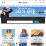 Ezibuy - 30% off Full Priced Items and Free Delivery