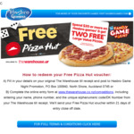 FREE 2 Large Pizzas (Pizza Hut) When You Spend $20.00 or More on Any Hasbro Games @ The Warehouse