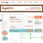 84% off - RapidSSL Certificate at US $13.98 (~NZ $21)/2 Years @ Cheap SSL Security