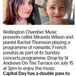 Win a Double Pass to See Miranda Wilson and Pianist Rachel Thomson in Concert from The Dominion Post (Wellington)