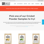 5g Sample of Cricket Protein Powder $10.57 Delivered @ Grilo