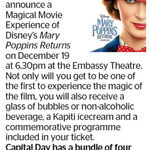 Win 4 Tickets to Disney's Mary Poppins Returns + Drinks and Ice Creams from The Dominion Post (Wellington)