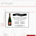 MUMM Champagne Cordon Rouge $74.99 (usually $145) from Glengarry Online (limited stock)