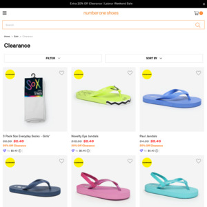 Number One Shoes: Deals, Coupons and