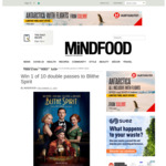 Win 1 of 10 Double Passes to Blithe Spirit from Mindfood