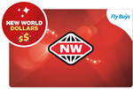 Swap Fly Buys for New World Club Credit: 85pts = $15 NW Club Credit