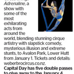 Win 1 of 5 Double Passes to Adrenaline from The Dominion Post (Wellington)