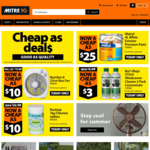 Box Fan 25cm - $10, Wattyl Exterior White Paint 4L - $25, Windscreen Cleaner 2Pack - $3, Poolstar Tablets 1kg - $10 @ Mitre10