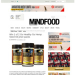 Win 1 of 2 Go Healthy Go Hemp Seed Oil Prize Packs from Mindfood