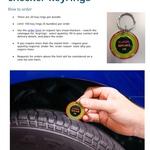 100 Free Tyre Tread Checker Keyrings @ NZTA