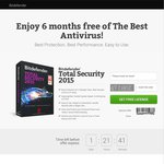 FREE 6 Month License Bitdefender Total Security 2015