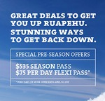 $29 Mt Ruapehu Rookie Club - Beginner Area Ski Pass + Rental + Group Lesson (Value $163)