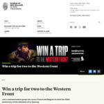 Win a trip for two to the Western Front from the Museum of New Zealand Te Papa Tongarewa