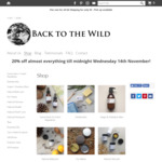 20% off Almost Everything @ Back to The Wild (Bodycare)