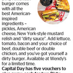 Win 1 of 5 Vouchers for Two Wendy's Dirty American Burgers and Two Dirty Fries from The Dominion Post