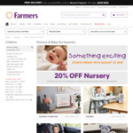 50% off All Nursery Products @ Farmers