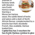 Win 1 of 3 Pairs of Wendy's Exotic Harissa Combos from The Dominion Post