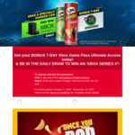 Bonus Xbox 7-Day Game Pass Ultimate Code with Specially Marked Pringles Can