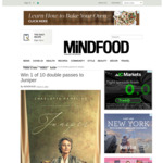 Win 1 of 10 Double Passes to Juniper from Mindfood